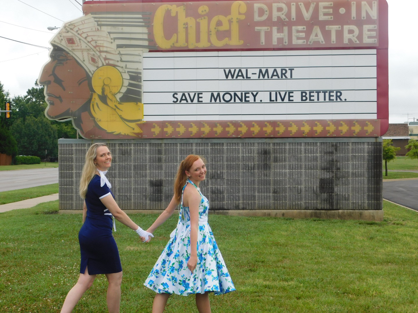 Chief Drive In sign, 37th Street. Kudos to Wal-Mart for not only saving but preserving the glorious piece of Topeka architecture.